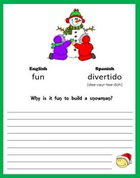 Christmas:  Write like a Snowman