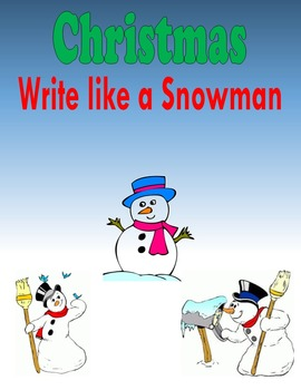 Christmas:  Write like a Snowman