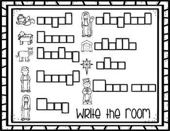 Christmas Write the Room and Nativity Labeling