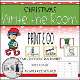 Christmas Write the Room: A Holiday Language Arts Activity