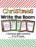 Christmas Write the Room - 5 Math Activities