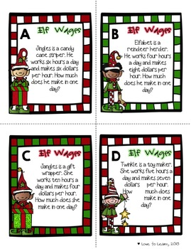 Christmas Write the Room - 5 Math Activities
