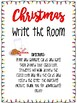 Christmas Write the Room Alphabet Literacy Center Activity Pre-K Kindergarten