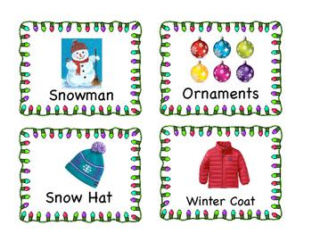 Christmas Write the Room Cards
