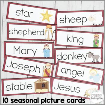 Christmas Write the Room-Christian themed