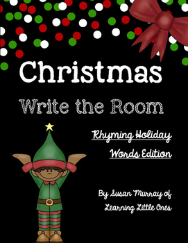 Christmas Write the Room *Holiday Words Rhyming Version*