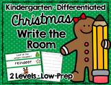 Christmas Write the Room Kindergarten