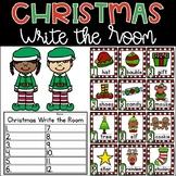 Christmas Write the Room Kindergarten Activity