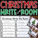 Christmas Write the Room Kindergarten Activity