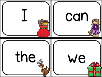 Free Christmas Write the Room Literacy and Math Activities