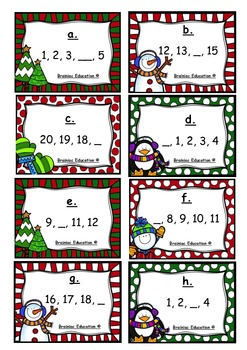 Christmas Write the Room Number Sequencing 0 - 20