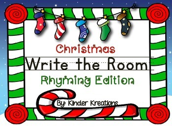 Christmas Write the Room: Rhyming