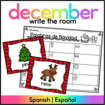 Christmas Write the Room SPANISH