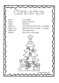 Christmas Math the Room - Subtraction