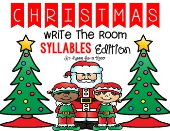 Christmas Write the Room Syllables Edition