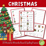 Christmas Write the Room and Spelling Practice