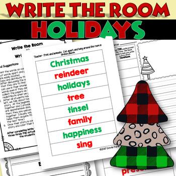Christmas Write the Room to Write a Story - Holidays