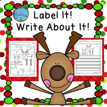 Christmas Writing with Labels!  Christmas ESL