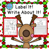 Christmas Writing with Labels!  ESL Christmas Activities Google Classroom SPED