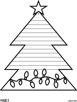 Christmas Tree Writing Craftivity