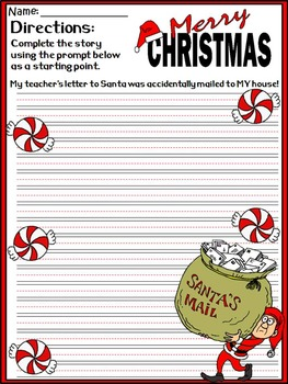 Christmas Writing Prompts Activity Packet