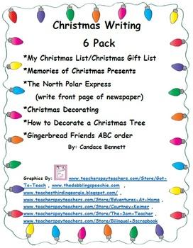 Christmas Writing 6 Pack