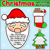 Christmas Writing Holiday Activities: Santa Claus, Gingerbread Man, Elf & Tree