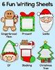 Christmas Writing Holiday Activities: Santa Claus, Gingerbread Man, Elf & Tree