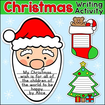 Christmas Writing Activities: Santa Claus, Gingerbread Man