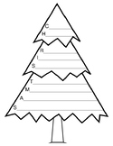 Christmas Writing Activities Christmas Acrostic Poem Christmas Tree Actostic