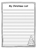 Christmas List Writing Paper Christmas List Template Christmas Writing Prompt