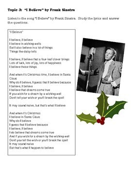 Christmas Writing Activities for ESL Students