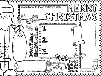 Christmas Doodle Poster Writing Activity