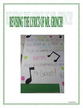 Christmas Writing Activity - Revising the lyrics of Christmas Songs
