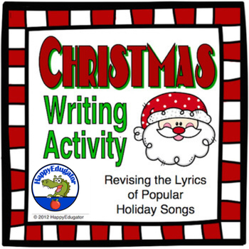 Christmas Writing Activity - Revising the lyrics of Christ