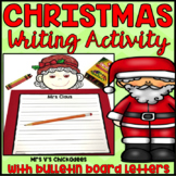 Christmas Writing Activity: Santa Claus and Mrs Claus Bulletin Board Display