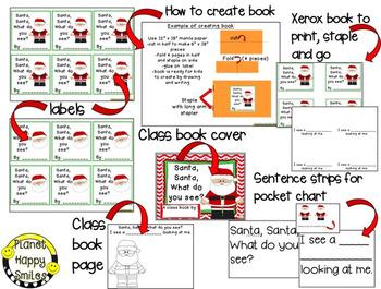 Christmas Activity ~ Santa, Santa What do you see? Writing