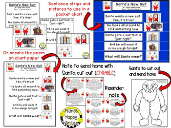 Christmas Activity ~ Santa's New Suit Writing & Poetry Activities