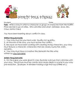 Christmas Writing Activity - Teaching Packet (characterization minilesson)