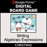 Christmas: Writing Algebraic Expressions - Digital Board G