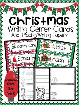 Christmas Writing Center Cards