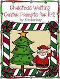 Christmas Writing Center Prompts for Kindergarten through Second Grade