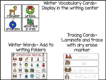 Christmas Writing Center for Kindergarten and 1st Grade
