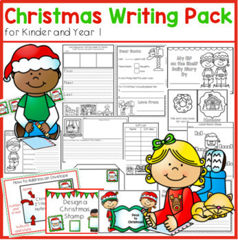 Christmas Writing Center for Kindergarten and Year 1