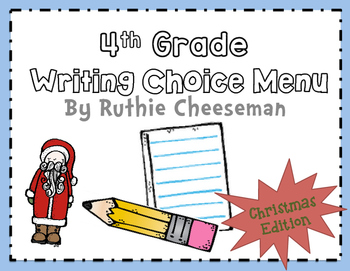 Christmas Writing Choice Menu