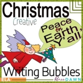 Christmas Creatve Writing Prompts with Chrismas Writing Bubbles