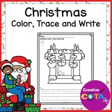 Christmas Writing Coloring Pages with Trace and Write Sentences