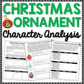 Christmas Writing - Compare and Contrast Christmas Ornament Character Analysis