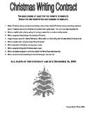Christmas Writing Contract