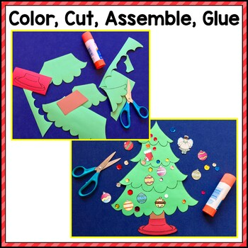 Christmas Writing Craftivity: Cut & Glue a Christmas Tree; Narrative Writing